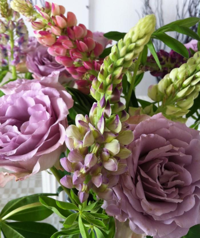 Rosor och lupiner